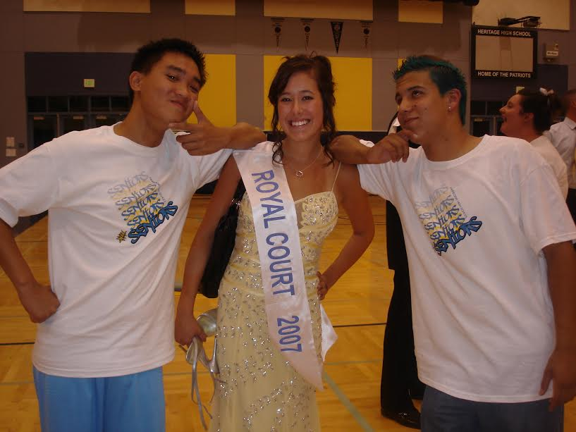 +Ali+Ward+poses+with+Kelvin+Pham+%28Left+of+Ward%29+as+she+is+recognized+for+being+voted+on+Royal+Court.