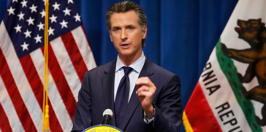 Gavin+Newsom+passes+Californias+Senate+Bill+145